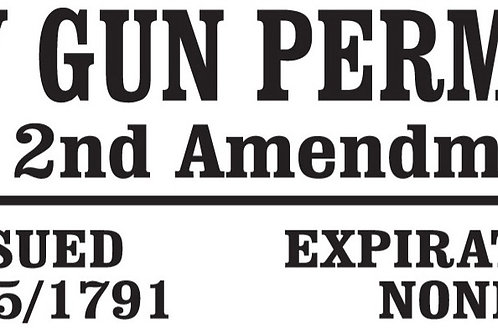 My Gun Permit 2nd Amendment Decal