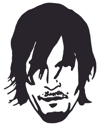 DARYL - WALKING DEAD Decal Sticker