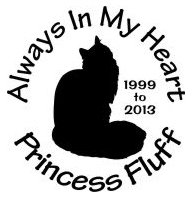Always in my heart cat Decal Sticker