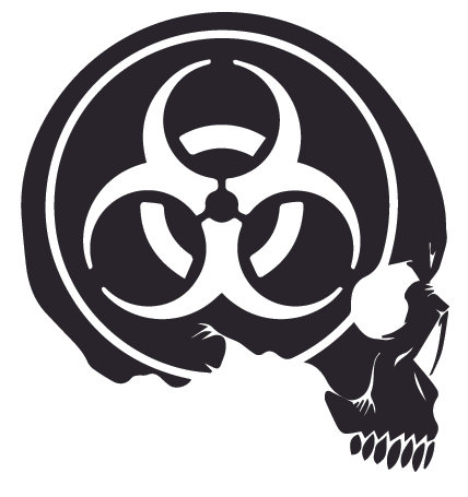 Biohazard Skull Zombie Decal Sticker
