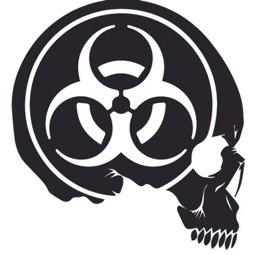 Biohazard Skull Zombie Decal Sticker