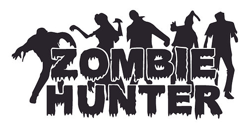 ZOMBIE HUNTER - zombies everywhere Decal Sticker