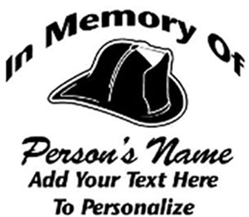 In memory of fireman Decal Sticker