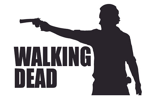 Rick Grimes Walking Dead Zombie Decal Sticker