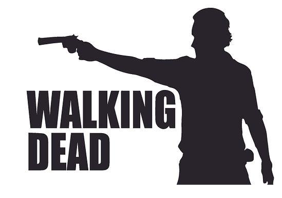 Rick Grimes Walking Dead Zombie Decal Sticker