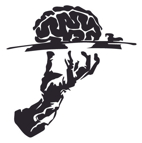 Your BRAINS are served Decal Sticker