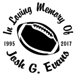 FOOTBALL In loving memory of Decal Sticker
