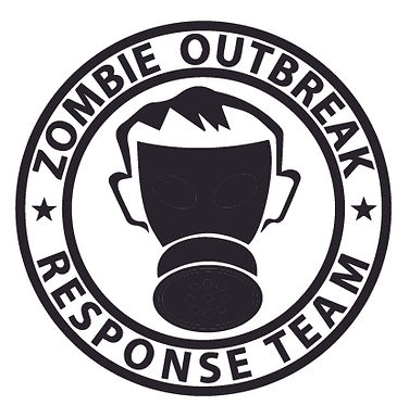 Gas Mask ZOMBIE OUTBREAK RESPONSE TEAM Decal Sticker