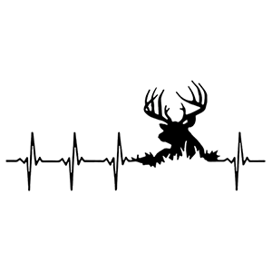 PULSE HEARTBEAT Deer Hunting Decal Sticker 4