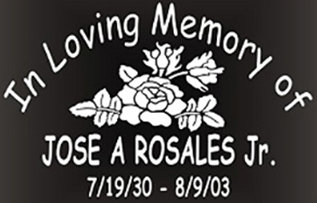 In memory of roses flowers Decal Sticker