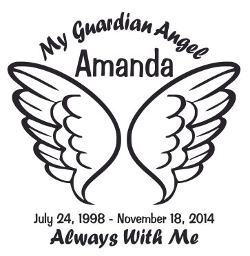 My guardian angel wing Decal Sticker