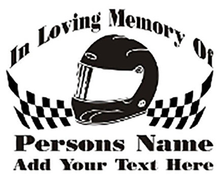 IN MEMORY OF racer racing drag Decal Sticker