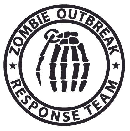 Skull Grenade ZOMBIE OUTBREAK RESPONSE TEAM Decal Sticker