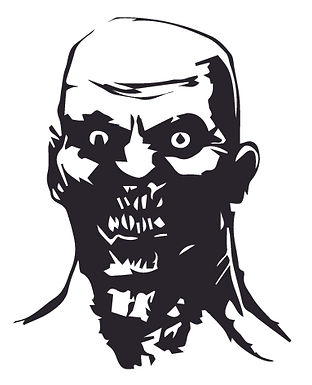 ZOMBIE HEAD Decal Sticker