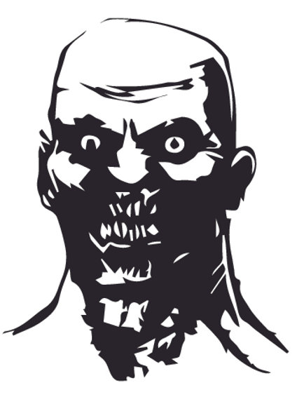 ZOMBIE HEAD Decal Sticker