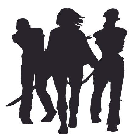 Michonne and sword Walking Dead Decal Sticker