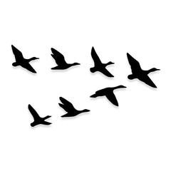 Flying Geese Duck Hunting Decal Sticker