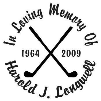 In loving memory of golfing Decal Sticker