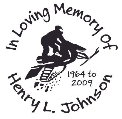 In loving memory of snowmobile racing Decal Sticker