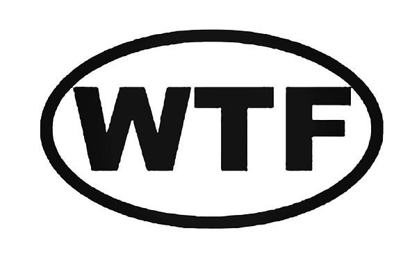WHAT THE FUCK Racer Racing Decal Sticker