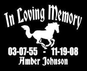 In loving memory horse pony Decal Sticker