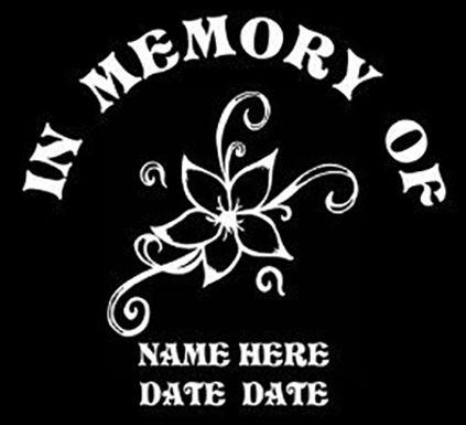 In memory of flower design Decal Sticker