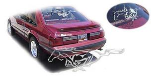 Rear Mustang Window Decal