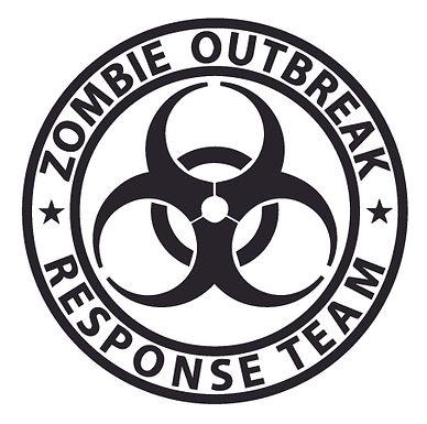 Biohazard ZOMBIE OUTBREAK RESPONSE TEAM Bullseye Walker Decal Sticker
