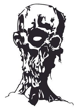 New age morbid zombie Decal Sticker