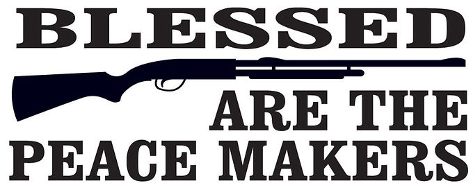 Blessed are the peace makers decal sticker