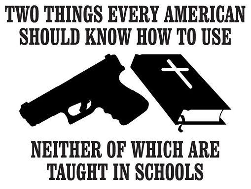 BIBLES AND GUNS Gun Decal Sticker