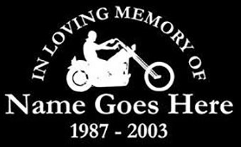 In loving memory of chopper motorcycle bike Decal Sticker