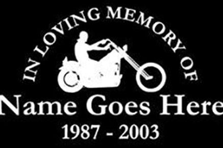 In loving memory of chopper motorcycle bike Decal Sticker