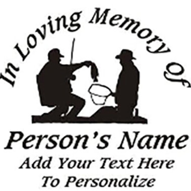 IN LOVING MEMORY OF boating bass fishing Decal Sticker