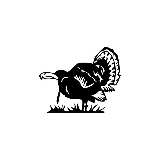 Gobbler TURKEY Hunting Window Decal Stick 2