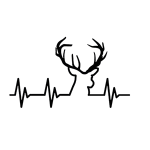 PULSE HEARTBEAT Deer Hunting Decal Sticker 3