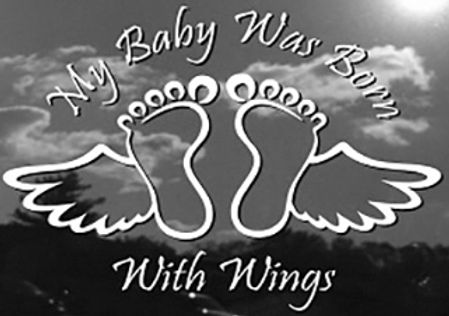 MY BABY WAS BORN WITH WINGS Decal Sticker