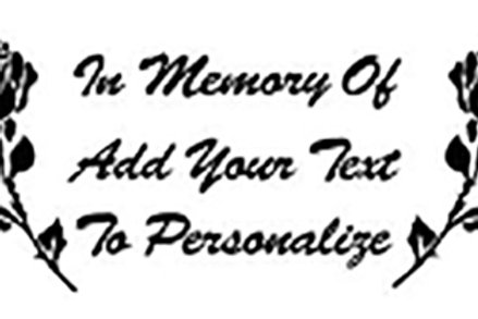In memory of duel rose combo mom Decal Sticker