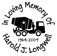 Cement truck driver In loving memory of Decal Sticker