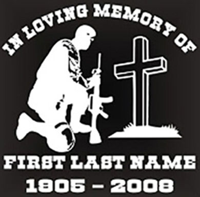 In loving memory of kneeling at cross military Decal Sticker