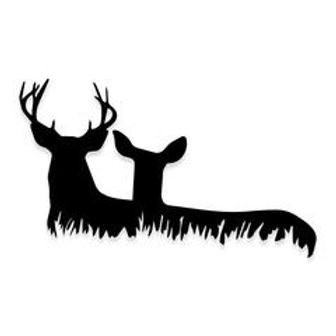 Buck and Doe in the Grass Deer Hunting Decal Sticker