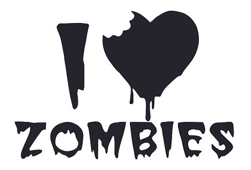 I love ZOMBIES Decal Sticker