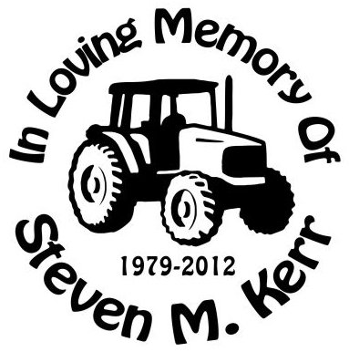 IN MEMORY OF 4X4 TRACTOR Decal Sticker