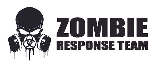 Biohazard Skull Blood Dripping Zombie Response Team Decal Sticker