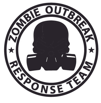 DEAD Gas Mask ZOMBIE OUTBREAK RESPONSE TEAM Decal Sticker
