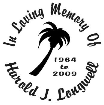 In loving memory of palm tree Decal Sticker