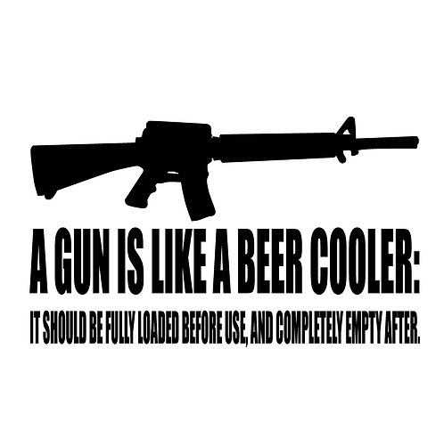 2nd Amendment - Gun is like a beer cooler