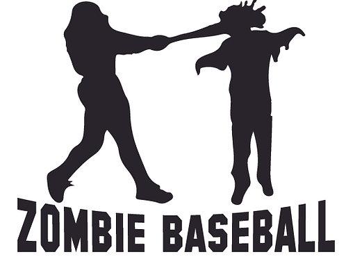 ZOMBIE BASEBALL Bat Decal Sticker