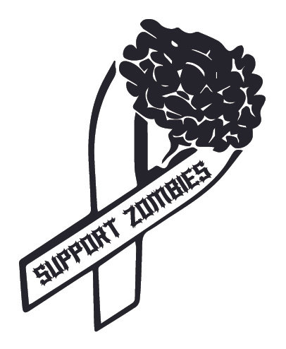 SUPPORT ZOMBIES Decal Sticker