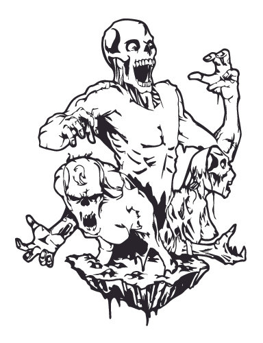 The dead ARISE! Zombie Decal Sticker